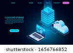 cloud data storage and server... | Shutterstock .eps vector #1656766852
