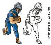 american football player....   Shutterstock .eps vector #1656785