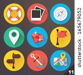vector icons for web and mobile ... | Shutterstock .eps vector #165679052