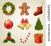 christmas design elements and... | Shutterstock .eps vector #165680642