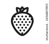 strawberry icon trendy and...