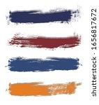 rainbow different brush strokes ... | Shutterstock .eps vector #1656817672