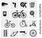 bicycle icons | Shutterstock .eps vector #165681896