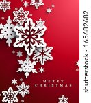 christmas and new years red... | Shutterstock .eps vector #165682682