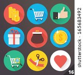 vector icons for web and mobile ... | Shutterstock .eps vector #165683492