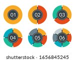 pie chart set. circle graph or...