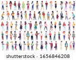 fashionable group of male and... | Shutterstock .eps vector #1656846208