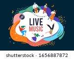 summer fest  concept of live... | Shutterstock .eps vector #1656887872