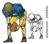 american football player....   Shutterstock .eps vector #1656896