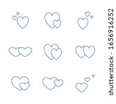 icon set of valentines day.... | Shutterstock . vector #1656916252