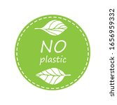 plastic free product sign for... | Shutterstock .eps vector #1656959332