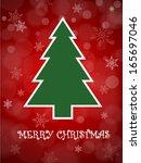 christmas card vector... | Shutterstock .eps vector #165697046