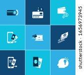 economy icon set and online...