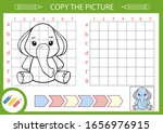 drawing tutorial funny elephant....   Shutterstock .eps vector #1656976915