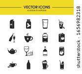 drink icons set with mocha ...