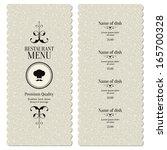 restaurant menu design | Shutterstock .eps vector #165700328