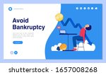 web page design with bankruptcy ... | Shutterstock .eps vector #1657008268