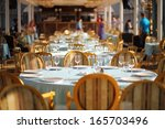 moscow   aug 13  served table... | Shutterstock . vector #165703496