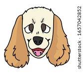 cute cartoon cocker spaniel...   Shutterstock .eps vector #1657042852
