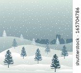 merry christmas | Shutterstock .eps vector #165704786