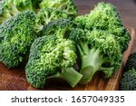 A Lot Of Broccoli For Diet And ...