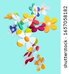 composition of 3d stylized... | Shutterstock .eps vector #1657058182