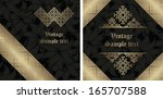 vector set of two cards.... | Shutterstock .eps vector #165707588