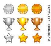 sport awards set   Shutterstock .eps vector #165711368
