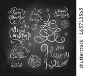 merry christmas and new year... | Shutterstock .eps vector #165712565