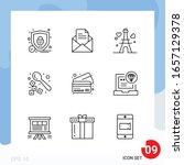 modern pack of 9 icons. line...   Shutterstock .eps vector #1657129378