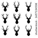the head of a deer. set of nine ... | Shutterstock .eps vector #1657134538
