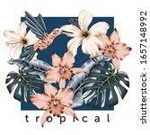 tropical design frame ...   Shutterstock .eps vector #1657148992