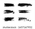 vector texture black ink paint...   Shutterstock .eps vector #1657167952