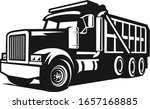 Dump Truck In Black And White...