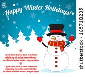 christmas background with... | Shutterstock .eps vector #165718235