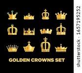 crown vector golden royal... | Shutterstock .eps vector #1657195252