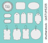 set of various tags tags.... | Shutterstock .eps vector #1657195255