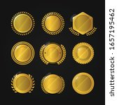 vector set gold framed labels | Shutterstock .eps vector #1657195462