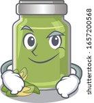 cool pistachio butter mascot... | Shutterstock .eps vector #1657200568