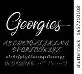 best alphabet georgies script... | Shutterstock .eps vector #1657210108