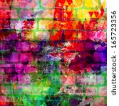 Grunge Style Colorful Paint...