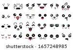kawaii cute faces. manga style... | Shutterstock .eps vector #1657248985