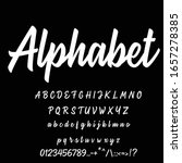best alphabet sport vintage... | Shutterstock .eps vector #1657278385