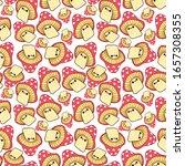 red mushrooms. funny stuff... | Shutterstock . vector #1657308355