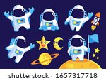 collection of space astronaut... | Shutterstock .eps vector #1657317718