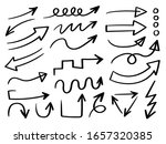 business arrows hand drawn... | Shutterstock .eps vector #1657320385