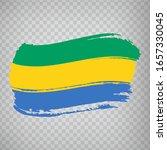 flag of gabon from brush...