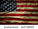 closeup of wrinkled american... | Shutterstock . vector #165738005
