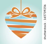 love design over blue... | Shutterstock .eps vector #165739256