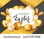 black lettering happy easter on ...   Shutterstock .eps vector #1657397488